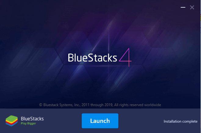 Bluestacks install
