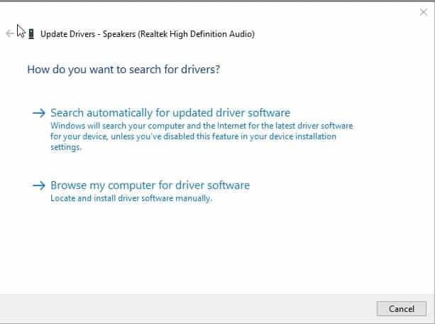Update driver