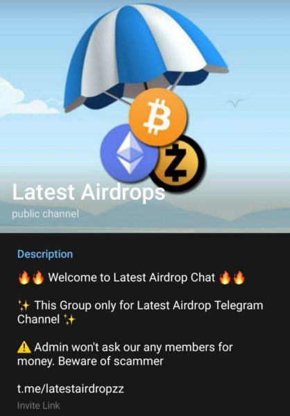best telegram channels for airdrop